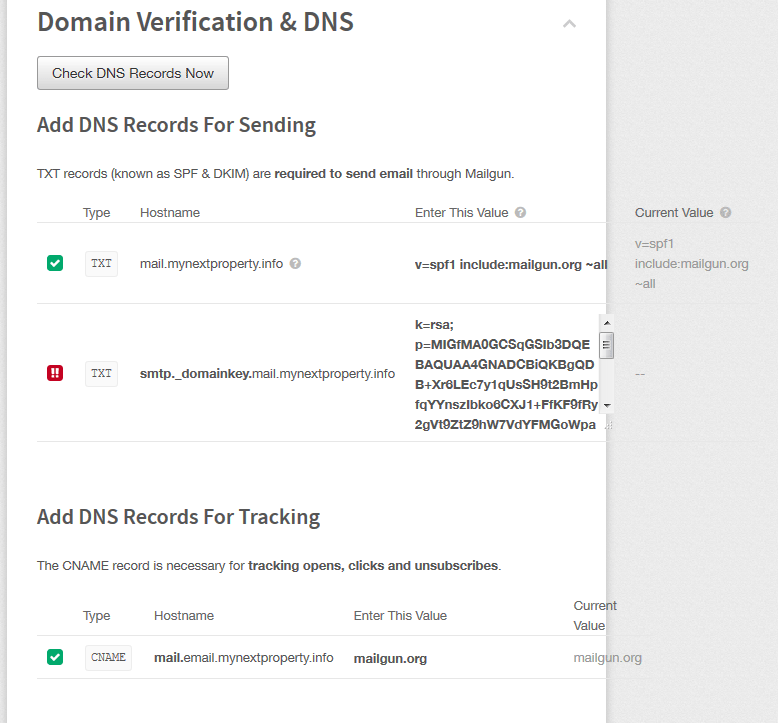 Verify DNS Settings Correct