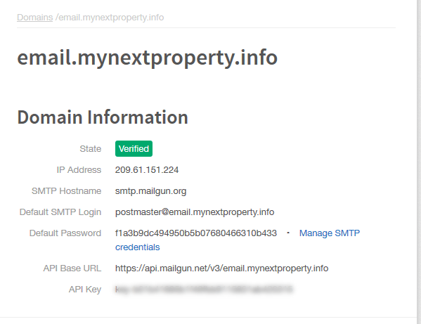 SMTP Setup Link
