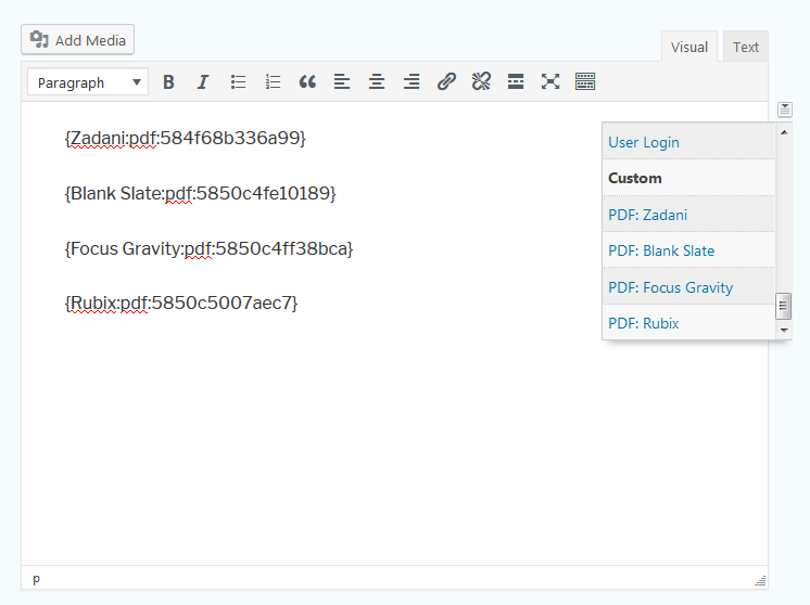 Gravity PDF Mergetags are included in the merge tag selector automatically