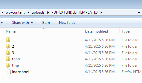 The PDF_EXTENDED_TEMPLATES multisite working directory