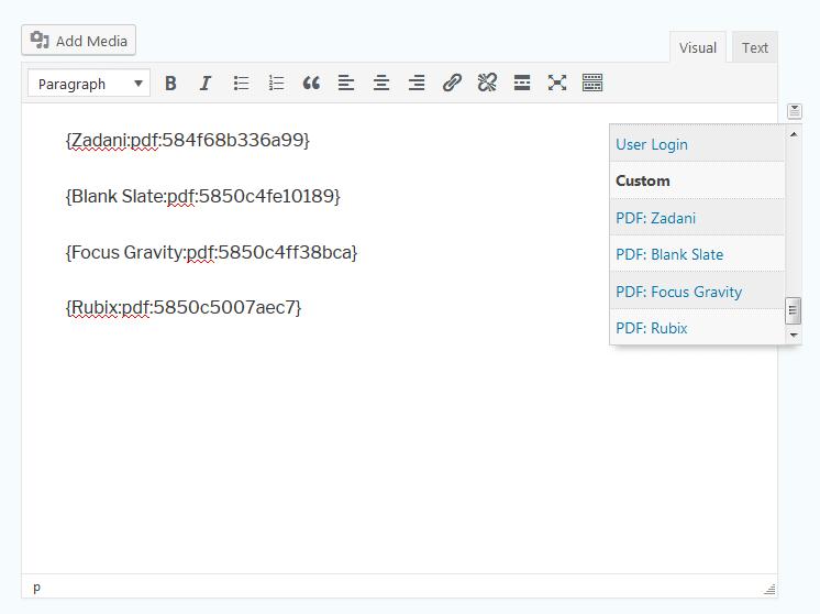 PDF Mergetags