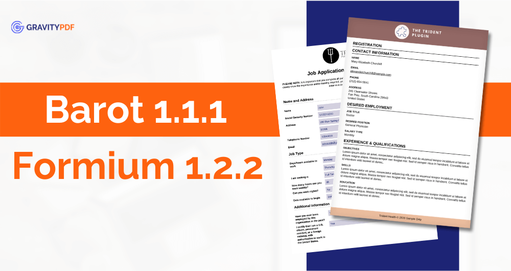 Barot 1.1.1 and Formium 1.2.2 (Image)
