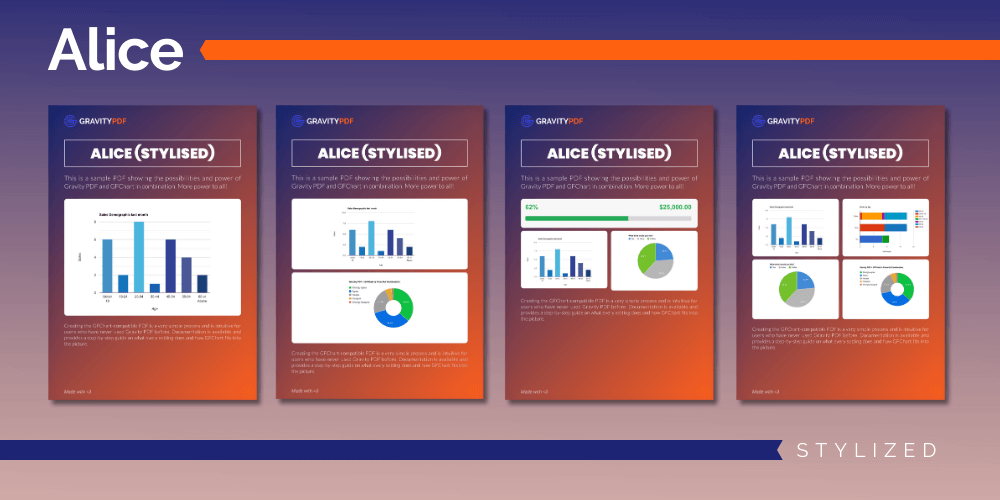 A sample of the Alice Stylized Report template