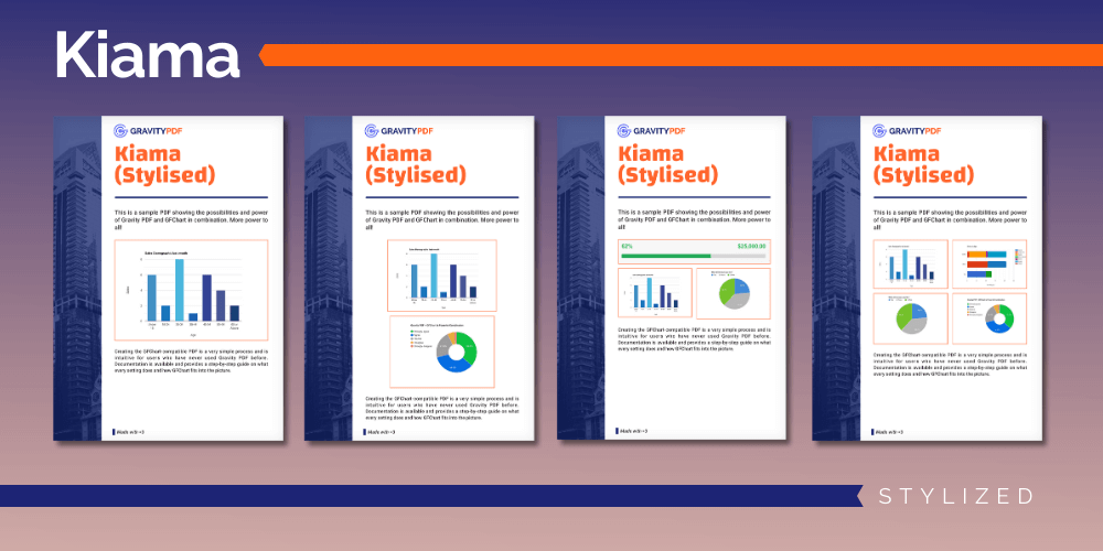 A sample of the Kiama Stylized Report template