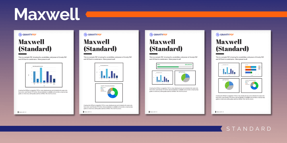 A sample of the Maxwell Standard Report template