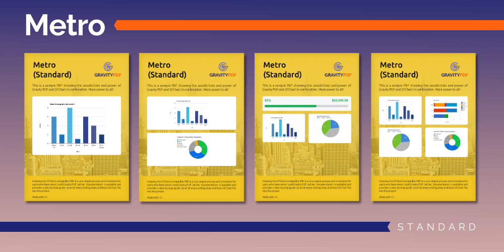 A sample of the Metro Standard Report template