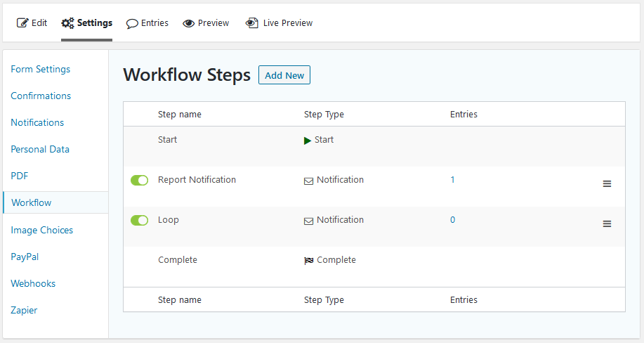 An overview of the Gravity Flow workflow needed to schedule the notification(s)