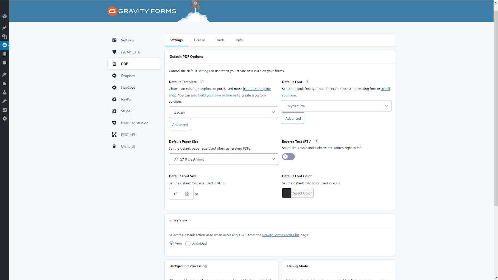 Gravity PDF 6.0.0-beta1 User Interface (Image)