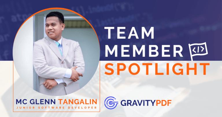 Team Member Spotlight Mc Glenn Tangalin (Image)