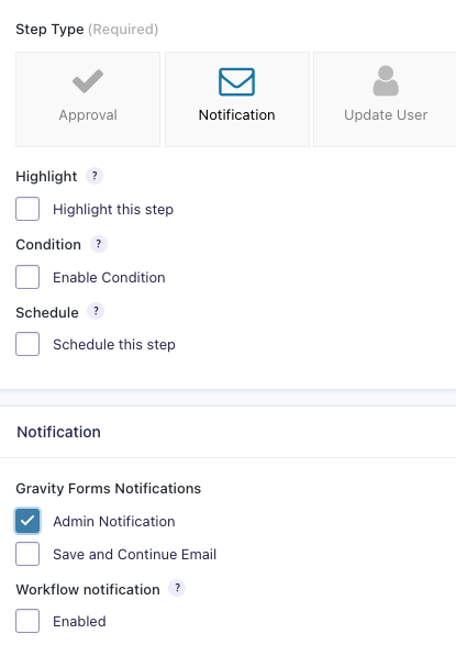 Notification Workflow