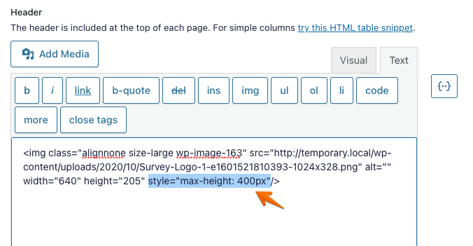 """Include style""""max-height: 400px"""""""