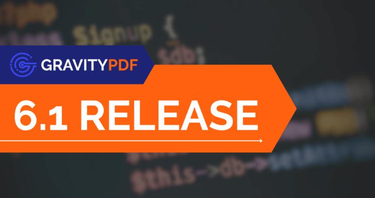 Gravity PDF 6.1 (WordPress)