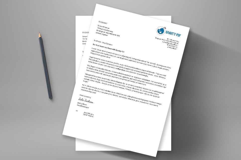 business letter format with logo