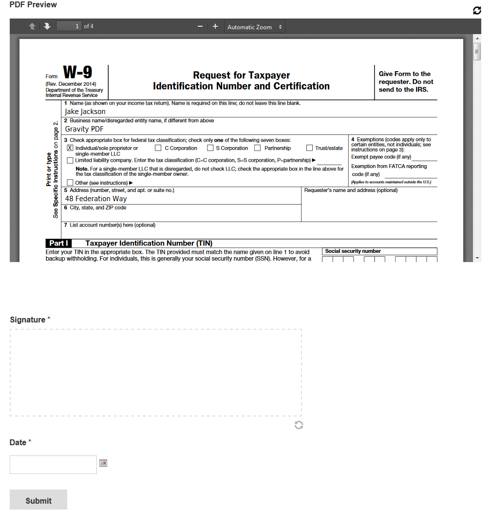 Preview PDFs before your Gravity Form is submitted   Gravity PDF