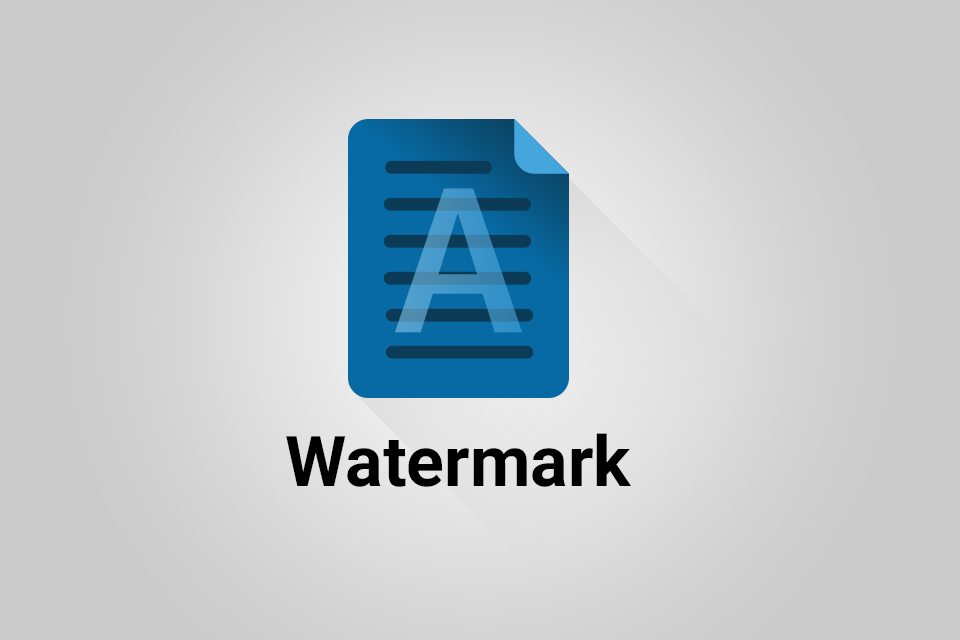 Watermark add-on