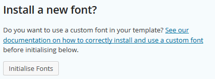 Once the TTF font file has been uploaded to the server you'll need to install it.